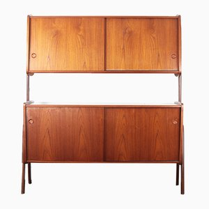 Scandinavian Modern Glass and Teak Buffet, 1960s