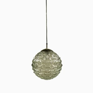 Vintage German Glass Pendant Lamp from Quelle, 1970s