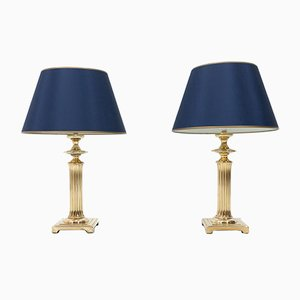 Vintage Regency Brass Table Lamps from Herda, 1976, Set of 2