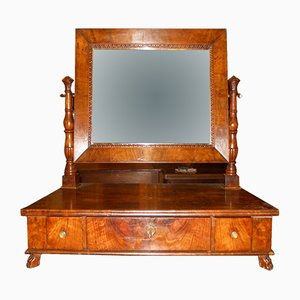 Antique Empire Walnut Mirror