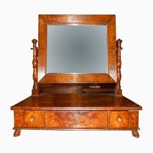 Espejo imperial antiguo de nogal
