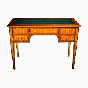 Antiker italienischer Schreibtisch aus Nussholz im Louis XVI-Stil mit Intarsien