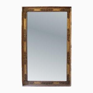 Antiker französischer Empire Spiegel mit goldenem Rahmen