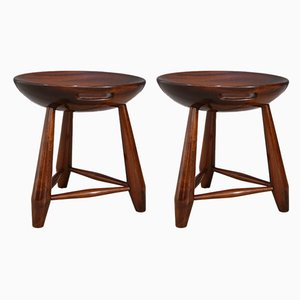Mid-Century Wooden Mocho Stools by Sergio Rodrigues, 1952, Set of 2