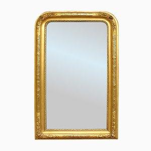 Espejo francés Louis Philippe antiguo dorado