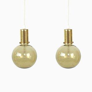 Schwedische Vintage Deckenlampen, 2er Set