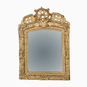 Espejo Louis XV francés dorado, siglo XVIII