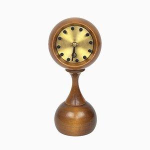 Space Age Uhr aus Holz, 1960er