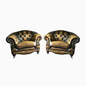 Leather Armchairs by Thomas Lloyd, 1990s, Set of 2
