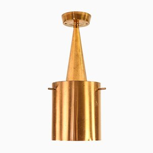 Mid-Century Danish Copper Ceiling Lamp, 1960s