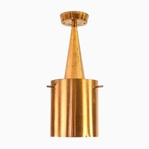 Mid-Century Danish Copper Ceiling Lamp, 1960s