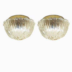 Glass Wall Lamps, 1970s, Set Of 2