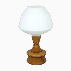 Lámpara de mesa polaca de cerámica, años 70
