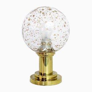 Lampe de Bureau en Laiton et Feuille d'Or, 1960s