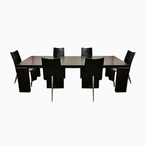 Ed Archer Table & 6 Chairs by Philippe Starck for Aleph, 1980s