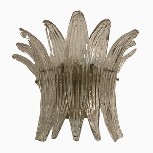 Art Deco Style Italian Murano Glass Sconce by Ercole Barovier for Murano, 1960s
