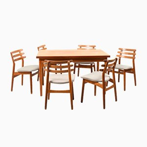 Mid-Century Danish Dining Room Set by Poul M. Volther for FDB