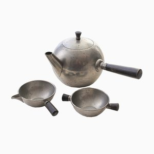 Pewter Coffee Set by O.H. Lagerstedt AB for Svenskt Tenn, 1936