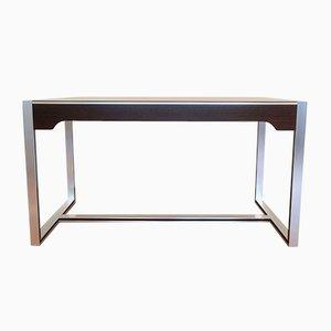 Moderner Schreibtisch aus Aluminium, Rauchglas & Palisander von Claude Gaillard für Ligne Roset, 1970er