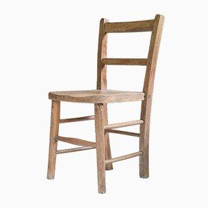 Chaise pour Enfant Victorienne Antique en Hêtre