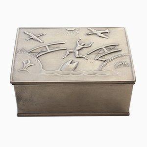 Schwedische Zinndose von Herman Bergman Art Foundry AB, 1929