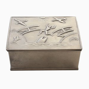 Swedish Tin Box from Herman Bergman Art Foundry AB, 1929