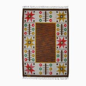Tappeto Rölakan moderno in lana a tessitura piatta di Astrid Sampe, Scandinavia, anni '60