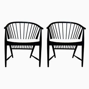 Sunfeather Armlehnstühle aus Buche & Samt von Sonna Rosén für Nässjö Stolfabrik, 1954, 2er Set