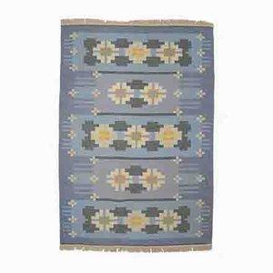 Schwedischer flachgewebter Vintage Rölakan Teppich von Ingegerd Silow, 1960er
