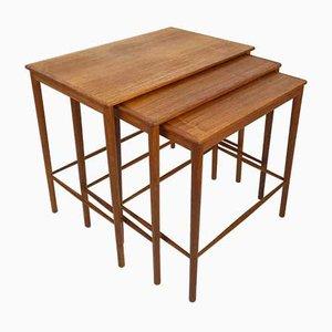 Mid-Century Danish Teak Nesting Tables by Grete Jalk for Poul Jeppesens Møbelfabrik, 1960s