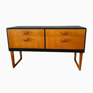 Low Mid-Century Teak Chest of 4 Drawers, 1960s