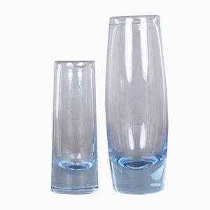 Vaso vintage di Per Lütken per Holmegaard, Danimarca, set di 2