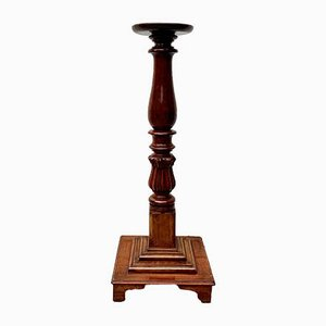 Antique Style Mahogany Pedestal Plant Stand, 1920s