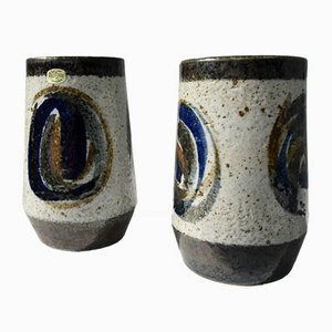 Mid-Century Stoneware Vases by Bertil Lundgren for Rörstrand, 1970s, Set of 2