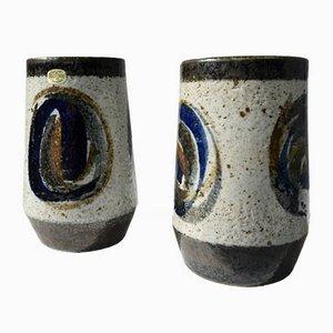 Vases Mid-Century en Grès par Bertil Lundgren pour Rörstrand, 1970s, Set de 2