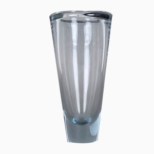 Vaso vintage in vetro blu di Per Lütken per Holmegaard
