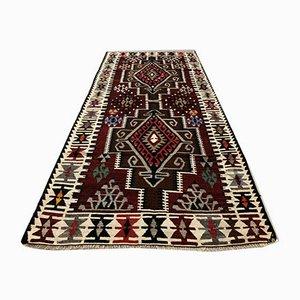 Türkischer Vintage Kelim Wollteppich, 1970er