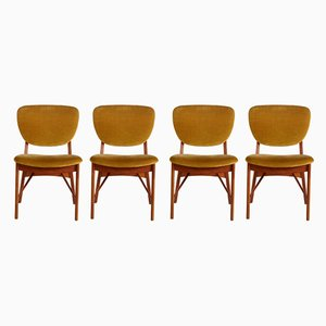 Mid-Century Teak Chairs from Niels Vodder, 1960s, Set of 4
