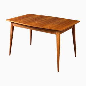 Scandinavian Modern German Walnut Dining Table, 1950s