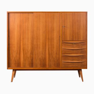 Scandinavian Modern German Walnut Sideboard, 1950s