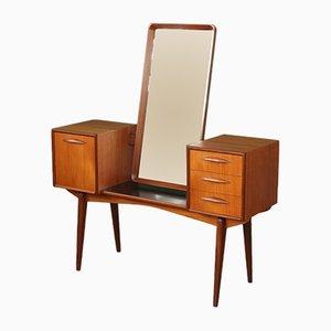 Tocador danés Mid-Century de espejo y teca, años 60