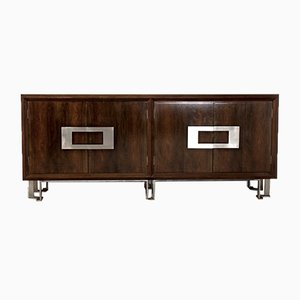 Nickel and Walnut Sideboard by Jordi Vilanova, 1970s