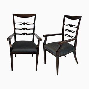 Italienische Esszimmerstühle aus Kirschholz von Paolo Buffa, 1940er, 2er Set