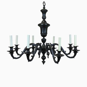 Large Antique Bronze Chandelier