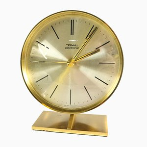 Vintage Brass and Steel Clock from Diehl, 1970s