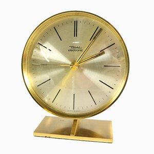 Vintage Uhr aus Messing & Stahl von Diehl, 1970er