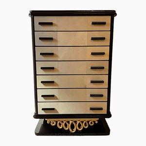 Art Deco Italian Parchment Dresser, 1950s