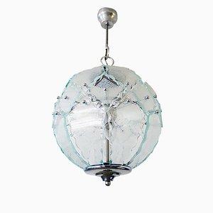 Italienischer Kronleuchter aus Glas von Zero Quattro für Fontana Arte, 1970er