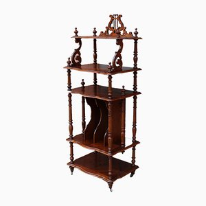 19th-Century French Napoleon III Walnut Shelf