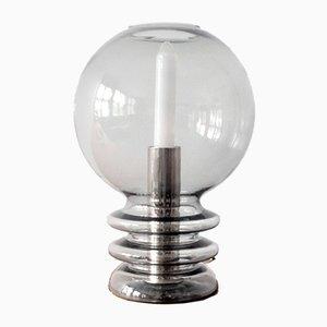 Lampe de Bureau Vintage en Verre Fumé, 1970s